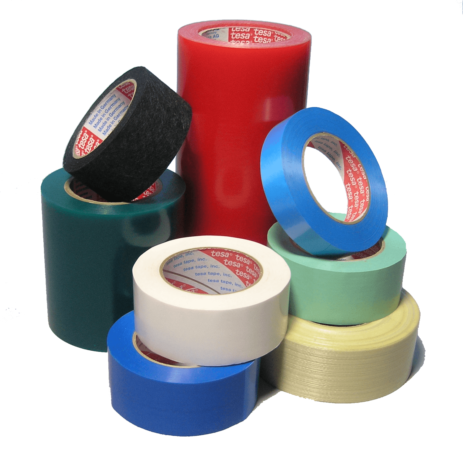 collection of appliance tape grouped on transparent background