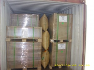 Dunnage air bags and proper blocking & bracing can help protect your whole tralier load of products.