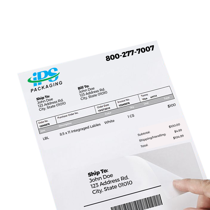 Integrated labels, form labels, and packing lists