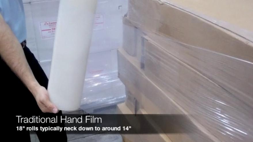 neck down effect in stretch film