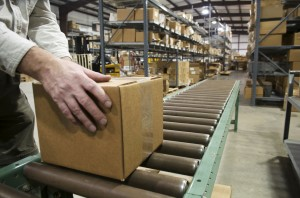 Using a case sealer can help ensure proper packaging tape application.